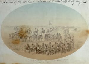 Nez Perce Arrive to Treaty Negotiations in 1855