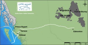 Proposed Northern Gateway Pipeline Route