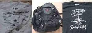 FBI reports this backpack contained these shirts and a bomb